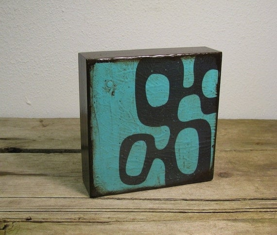 Atomic Mid Century Modern Abstract Art Block -- MatchBlox-1097