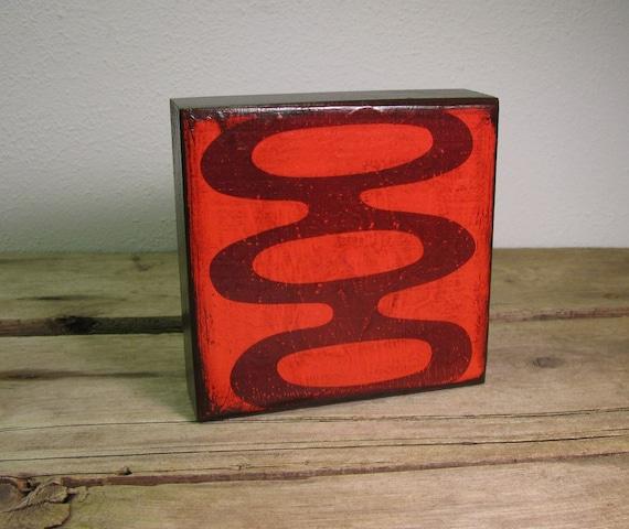 Retro Atomic Abstract Art Block Painting--MatchBlox--1371