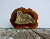Kitsch Fox on Wood