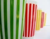 Hazel Atlas Bright Striped Mid Century Glasses-On Reserve