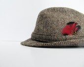 Vintage Mens Harris Tweed Fedora