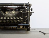 On Reserve until 7/20-Antique Underwood No. 4 Typewriter in Working Condition