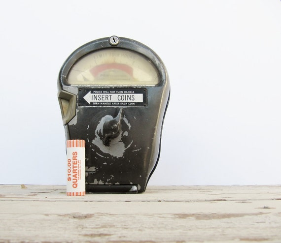 Industrial Urban Decor Metal Parking Meter, Great Guy Gift