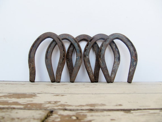 Rustic Decor Lucky Metal Horseshoes