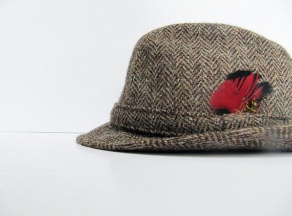 Vintage Mens Harris Tweed Fedora