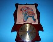 Vintage William Hoffman Signed Clown Clock