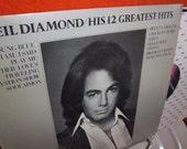 Neil Diamond His 12 Greatest Hits Record Album 1974 MCA-2106
