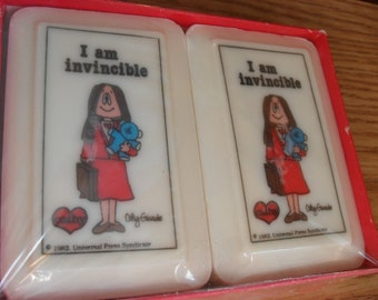 "1982 ""I am Invincible"" Cathy Soaps By Katherine Grey"