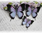 Lavender Glass Tail Butterflies for Scrapbooking ,Cardmaking, Tag Art, Mixed Media, Wedding, Mini Album