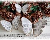 Music Sheet Butterflies for Scrapbooking,Cardmaking, Tag Art, Mini Album, Wedding, Altered Art, Mixed Media