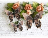 Peachy Butterfly Embellishment for Scrapbooking, Carmaking, Altered Art