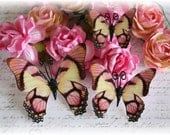 Amaretto Butterfly Die Cut Embellishments for Scrapbooking,Cardmaking, Tag Art, Mini Album