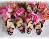 Amaretto Butterflies for Scrapbooking,Cardmaking, Tag Art, Mni Album