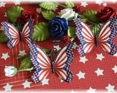 Patriotic Butterfly Die Cut Embellishments for Scrapbooking, Cardmaking, Home Decor, Mini Album
