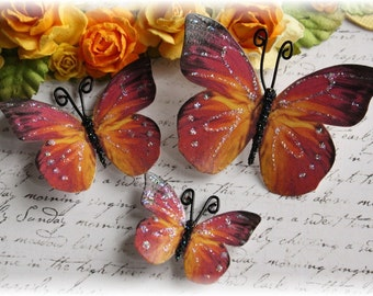 Dusk Butterfly Die Cut Embellishments for Scrapbooking, Cardmaking, Mini Albums, Tag Art, Mixed Media