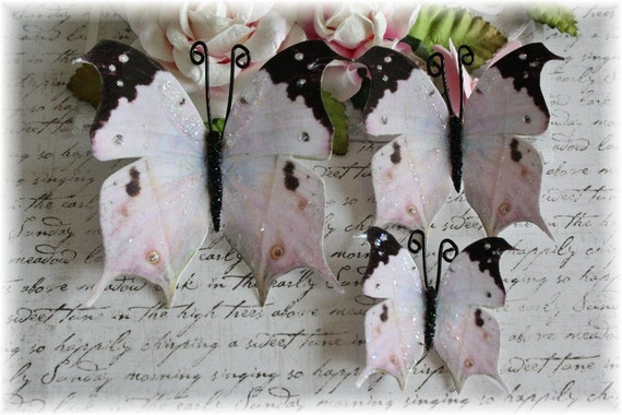 Bella Volo Butterfly Embellishment for Scrapbooking, Cardmaking, Altered Art, Tag Art, Mini Album