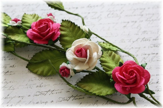 Wow Me Pink Rose Vine for Scrapbooking