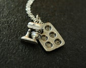 The Baking Necklace on a Sterling Chain