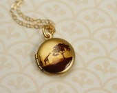 Small Giraffe Locket Necklace, Miniature Giraffe Necklace, Giraffe Jewelry, Animal Necklace, Kid's Jewelry, Child's Necklace, African Safari