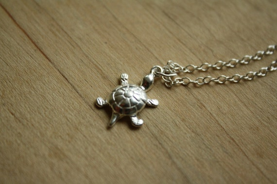 Tiniest Sterling Silver Turtle Necklace