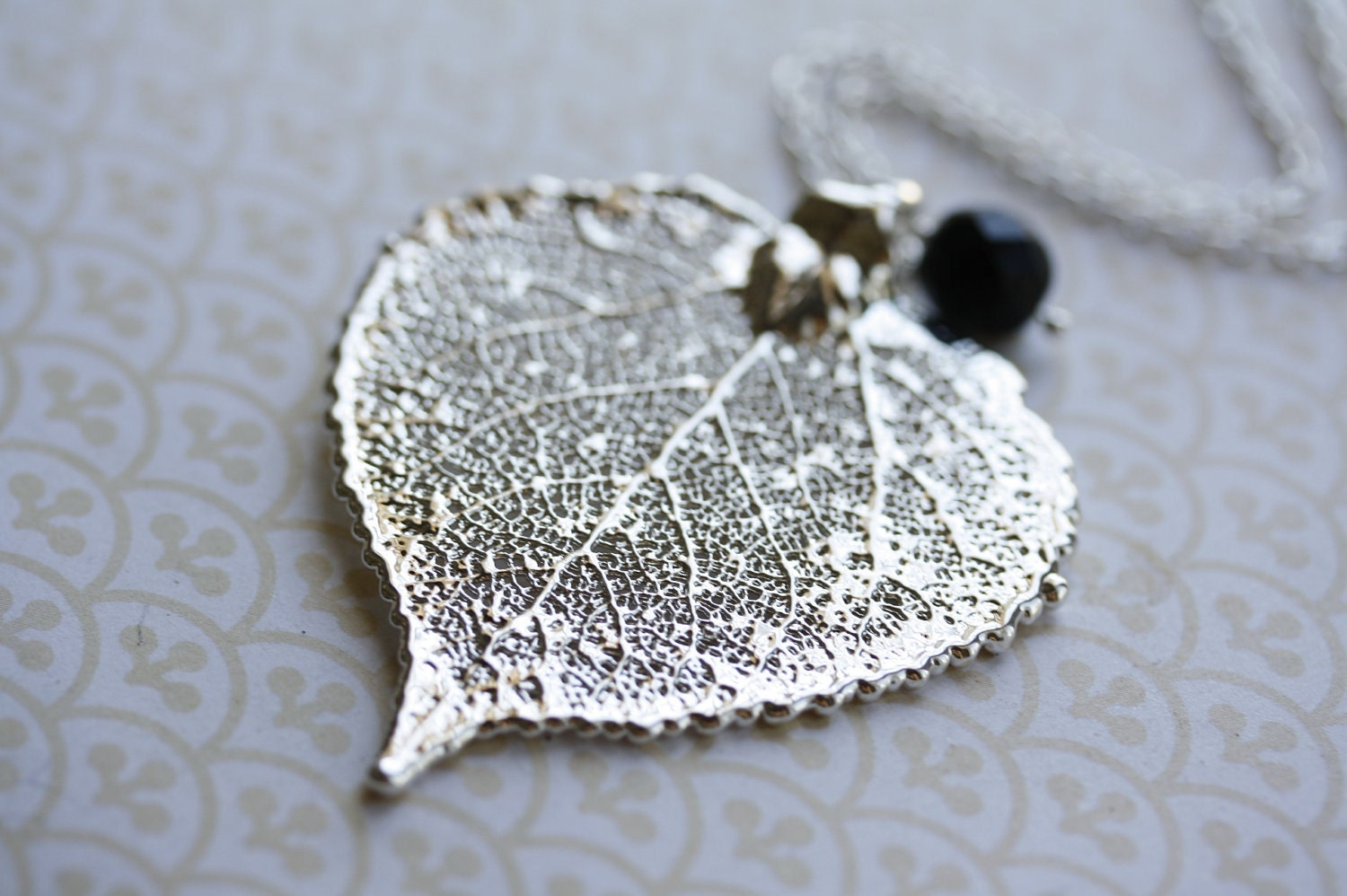 Leaf Jewelry Silver Silver Aspen Leaf Necklace