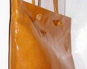 ITISNOTABAG. The New FARRAGO Oversized Tote in Burnt Orange Patent Leather. UNIQUE.