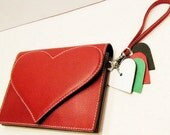 Reserved for nkclayton. HEART & SOUL. Essential Clutch in Red Calfskin. Three Compartments. Lether Lining.