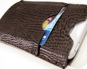 SALE 20% OFF. iPhone 4 Case, Card Case & Wallet. in Dark Brown, Genuine Shark Leather. Leather Lining. HANDMADE