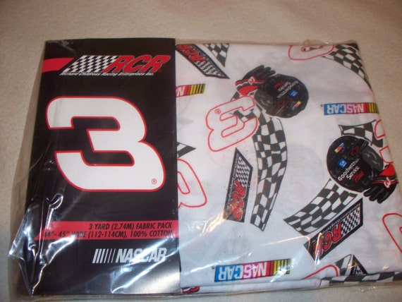 RARE - 3 Yrd NASCAR Cotton Fabric Dale Earnhardt Sr  3 - Quilting, Sewing, Crafts