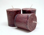 3 Gingerbread Scented Palm Wax Christmas Votive Candles