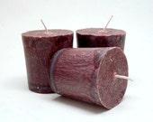 3 Vanilla Hazelnut Scented Palm Wax Votive Candles
