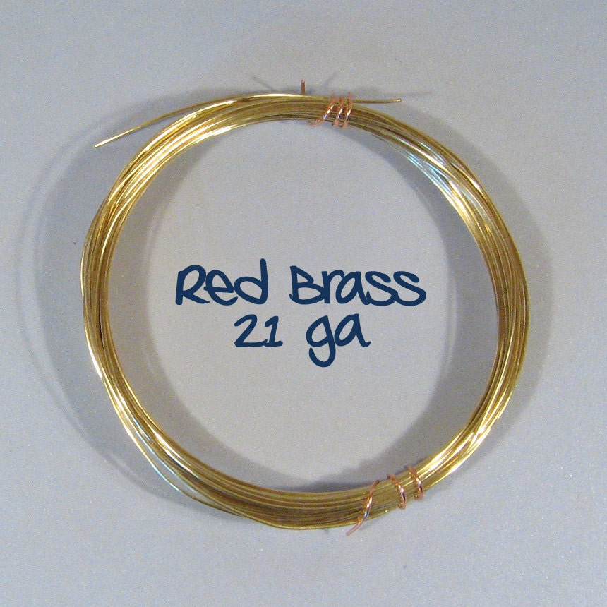21ga 25ft DS Red Brass Wire from ThunderMoonSupplies on Etsy Studio