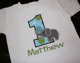 Elephant Birthday Shirt