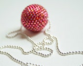 One Big Red Beaded bead Necklace