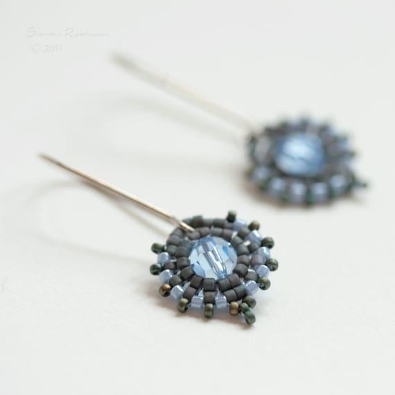 Little Grandma Earrings in Denim Blue