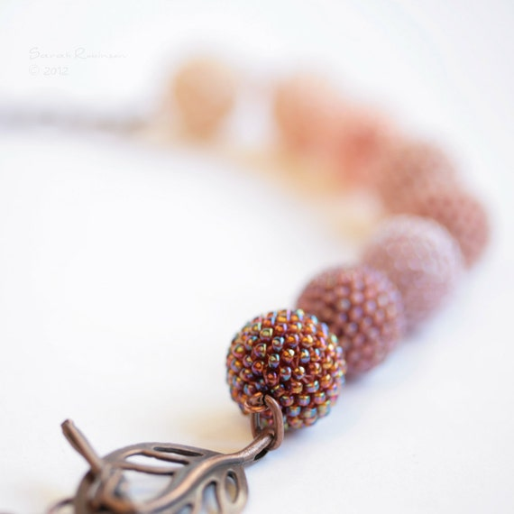 Blush Necklace Beaded Beads Nude