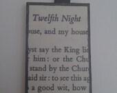 "Shakespeare's ""Twelfth Night"" pendant"