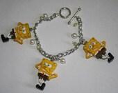 RESERVED Spongebob Squarepants Charm Bracelets - Yellow