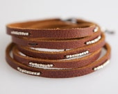 Chocolate Leather with Sterling Accent Beads
