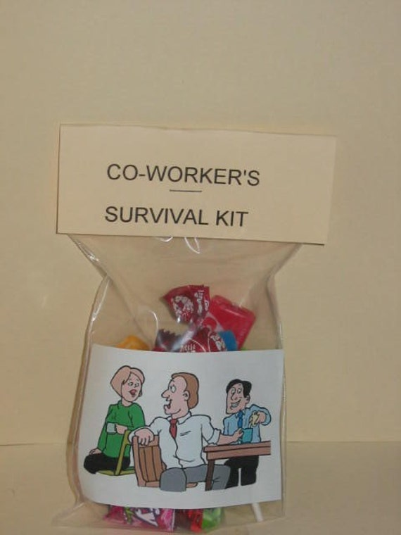 Co Worker S Survival Kit Coffee Break By Howadorable On Etsy