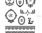 Velvet Applique - Monogram and Laces