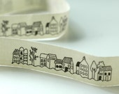 Little Houses In A Row Cotton Fabric Tape