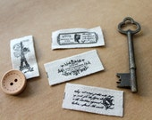 Fabric Labels Small Antique French Eiffel Tower  - 1 metre