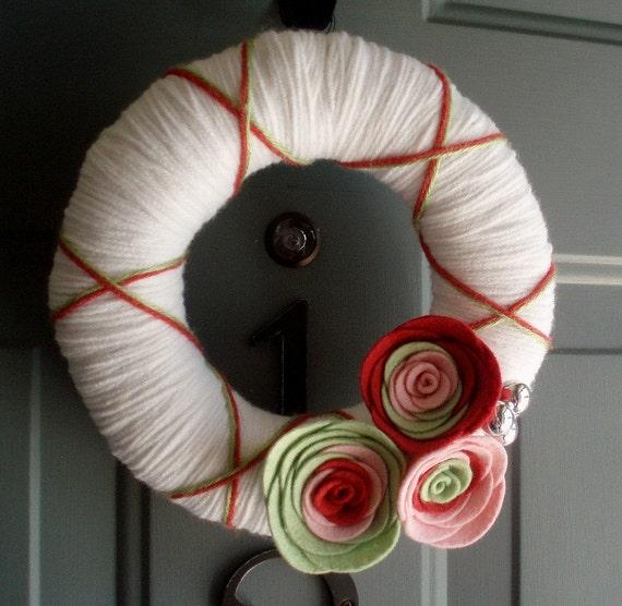 Yarn Wreath Felt Door Decoration - Bright Day 8in