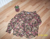 Floral Vintage Blouse..This is a must for your wardrobe.  SALE ITEM....
