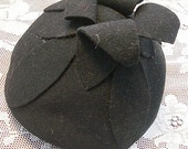 Black Chic Hat     -      Tulip Style with great elegance. RESERVED  for CHRISTIECOTTAGE