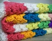 Colorful crocheted blanket