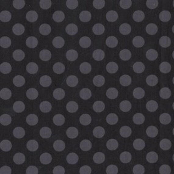1/2 yard, Ta Dot in black, Michael Miller