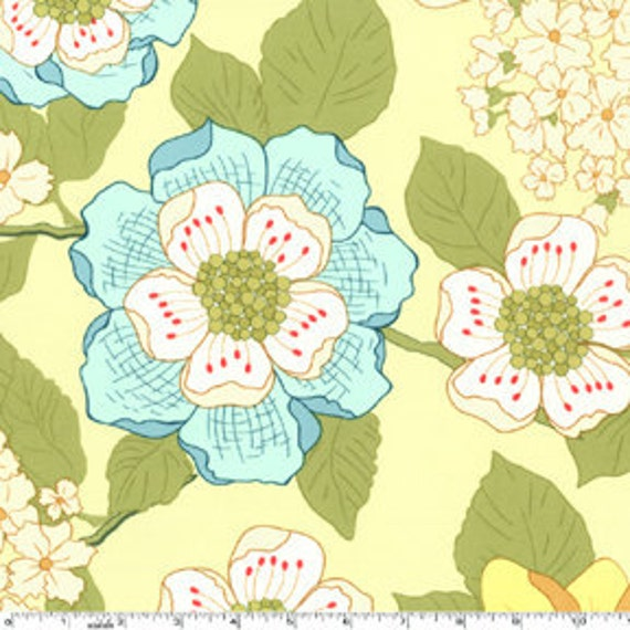 1/2 yard - Wallflowers in Melon, Secret Garden by Sandi Henderson