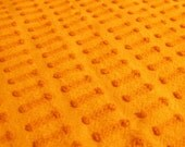 Groovy Orange Morgan Jones Buttonhole Vintage Chenille Bedspread Fabric